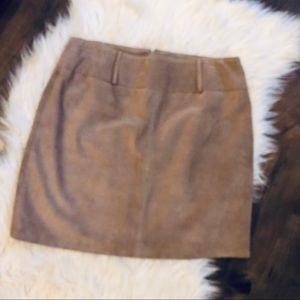I N C International Concepts Genuine Leather Skirt